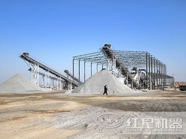 石英石制砂生产线现场