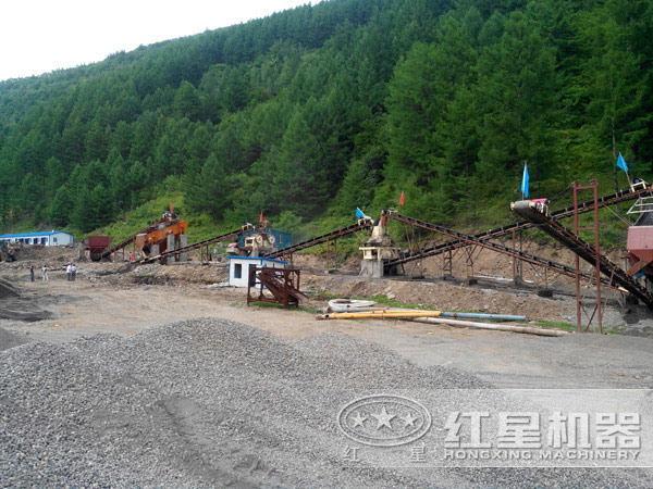 小型制砂机生产现场
