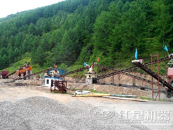 小型石英砂制砂机生产线
