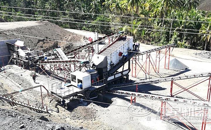 江苏时产40吨小型环保移动制砂机现场