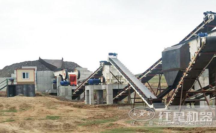 石灰石制砂生产线现场