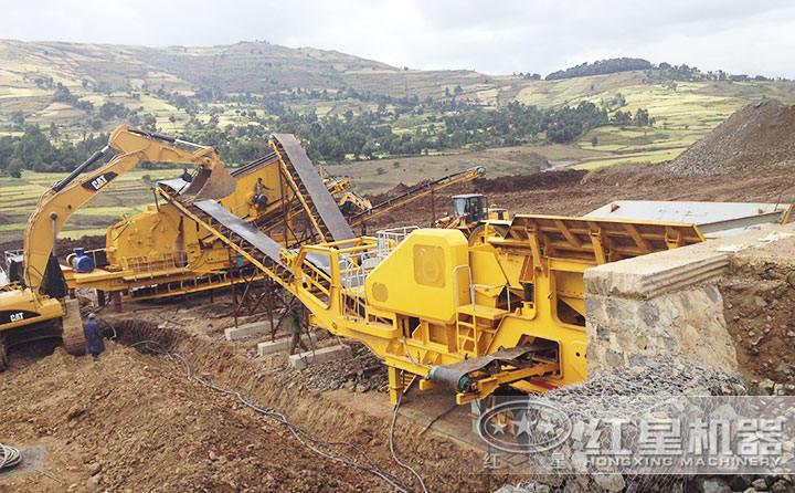 山东移动沙石机生产现场